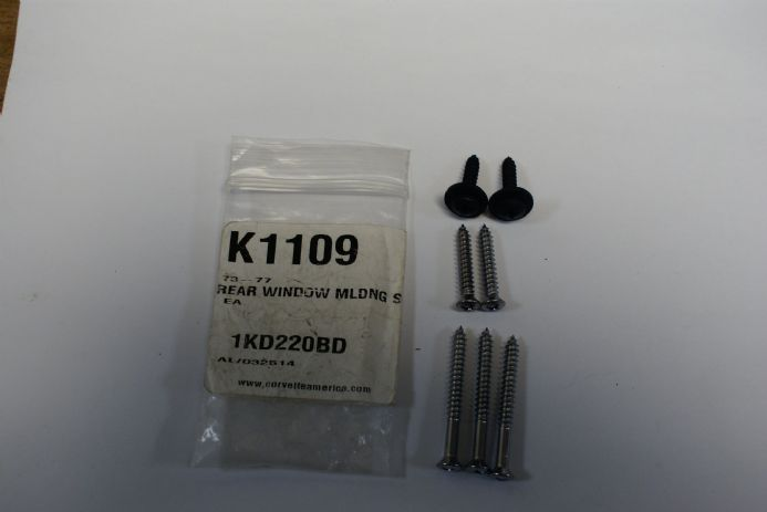 1973-1977 C3 Corvette Coupe,Rear Window Moulding Screws,New,Box A